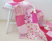Personalized baby quilt , baby quilt for sale , hello kitty , personalized baby blankets , kokeshi doll