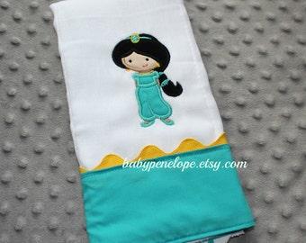 Boutique Style Baby Burp Cloth -Jasmine