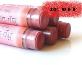 ON SALE 20% OFF. Ruby Lips. Tinted Lip Balm. LipStick. Lip shimmer.