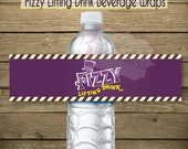 Printable - Fizzy  Lifting Drink Water Wraps Willy Wonka Inspired