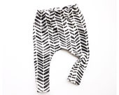 Tribal Chevron organic baby harems / toddler harems / hipster / black arrows / tribal chevron