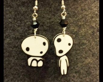 Kodoma Tree Spirits Princess Mononoke Shrinkydink Earrings