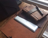 Watts journal, handmade leather journal, refillable handmade notebook, brown leather notebooks, sketchbooks and journals by Aixa, book maker
