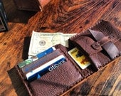 Bowronville wallet, handmade leather wallet, bifold/card case, mens accessories, handcrafted leather travel wallets by Aixa Sobin, maker