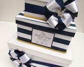 Nautical Wedding Card Box, Beach Wedding Money Box, Custom Made