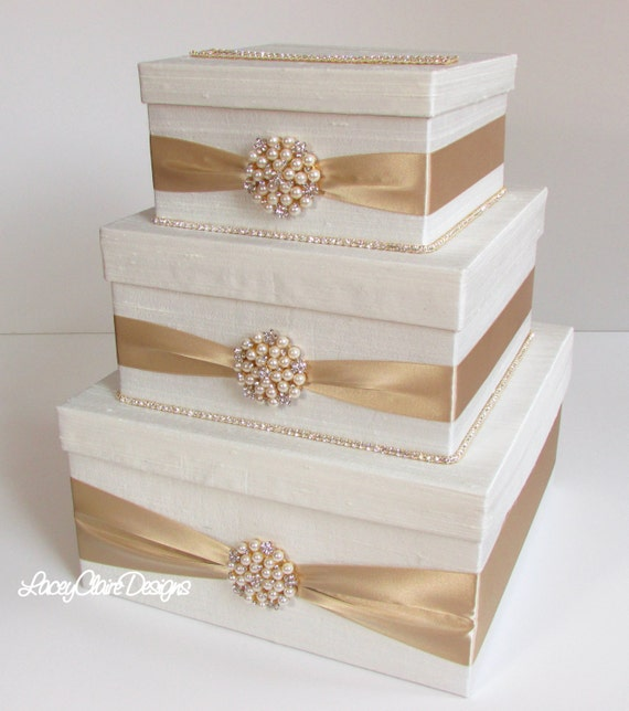 Wedding Gift Card Box Diy: Wedding Card Box Bling Card Box Rhinestone Money Holder
