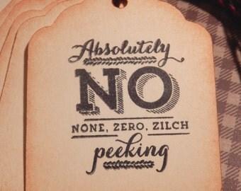 Christmas- No Peeking - gift/hang tags  (8)