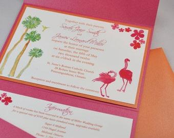Printable PDF Paradise Wedding Invitations for the DIY Bride