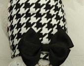 I'm a Classic Girl! Regal Business Black/White Houndstooth Harness with Lace/Bow. All Items Are Custom Made for Your Cat, Ferret or Dog.