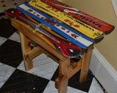 Recycled Ski End Table