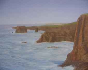 Shetland  Esha Ness : Scotland oil painting