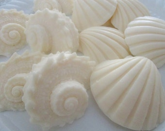 50 seashell Soap favors - ocean baby shower favor - ivory seashell favors - bridal shower favors - ocean party favors - beach wedding favors