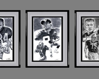 L.A. Raiders ART- Bo Jackson, Tim Brown, Howie Long
