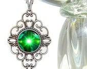 "Unique Necklace, Heart Chakra Jewelry, Bohemian Pendant ""Angel Hearts"""