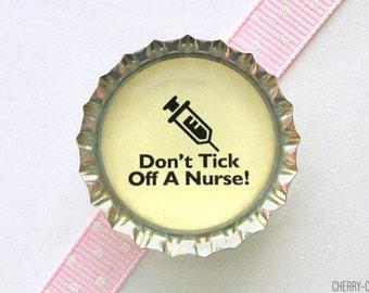 Nurse Magnet, Bottle Cap Magnet, nurse gifts for nurses, nursing student gift, nurse party favors, nurse office decor, nurse office gifts