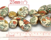 24pcs. Butterfly Howlite Beads/Pendants - 35x25mm - Grade B