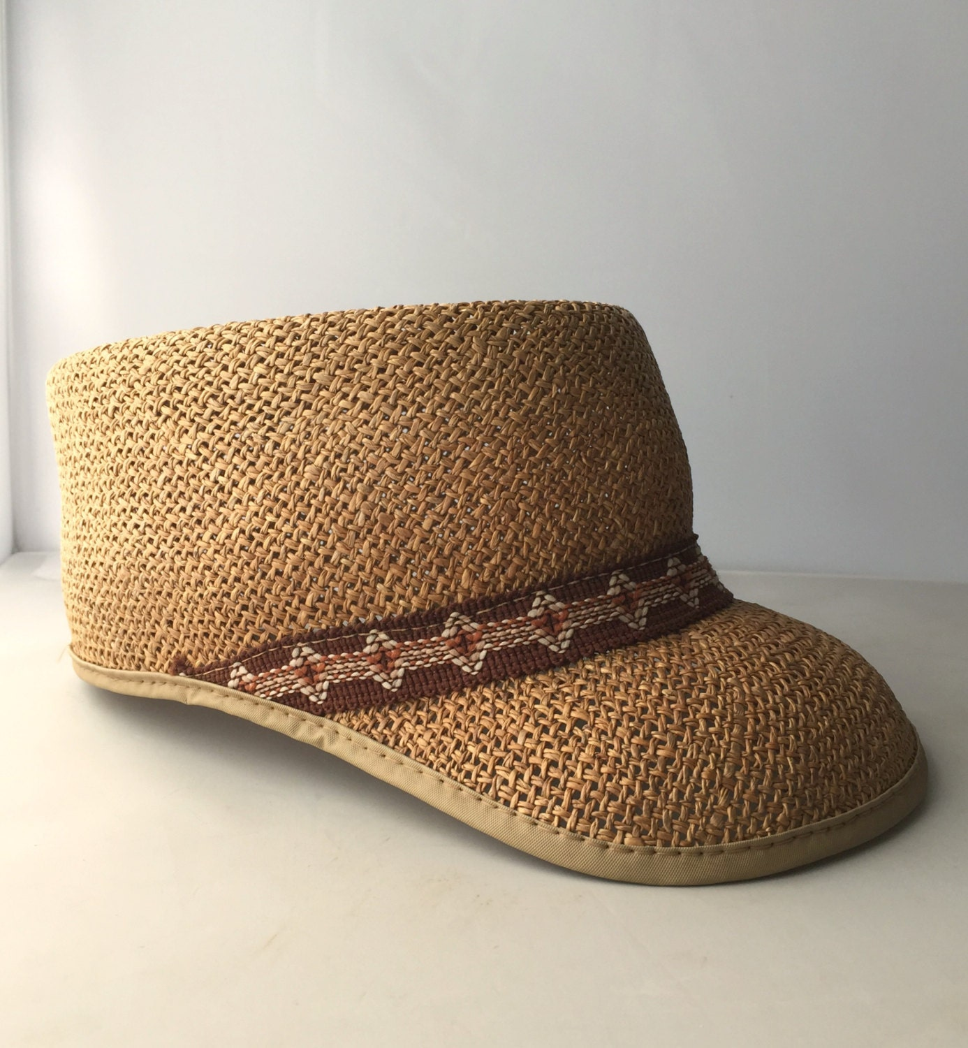 vintage straw baseball hat beachy boho summer fashion