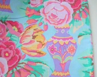 Kaffe Fassett Kirman Fabric, Duck Egg Blue, GP98, OOP, Rare, Half Yard
