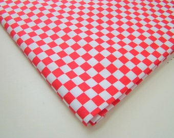 Red White Check Fabric, Checkpoint by Free Spirit Fabric, OOP