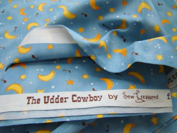 Moon and stars fabric the udder cowboy fabric for moda for Moon and stars fabric