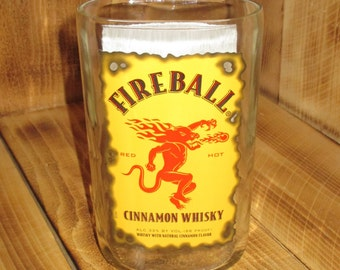 Upcycled Vase made from a Fireball Whiskey bottle