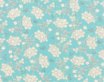 Garden Project - Vintage Floral in Sky by Tim and Beck for Moda Fabrics