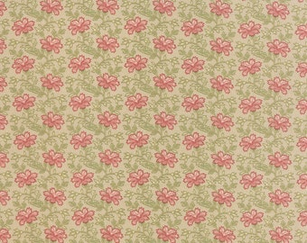 Country Orchard - Trailing Floral in Leaf Cream by Blackbird Designs for Moda Fabrics