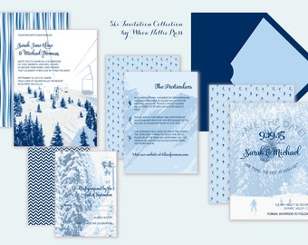 Ski Wedding Invitations