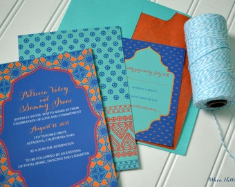 Wedding Invitations Colorful Moroccan Collection