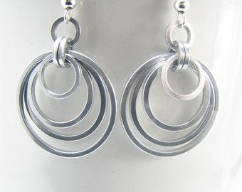 Rings of Minos Chainmaille Earrings