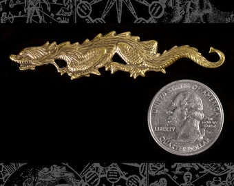 Antiqued Brass Dragon Wrap Filigree  *AB-P70