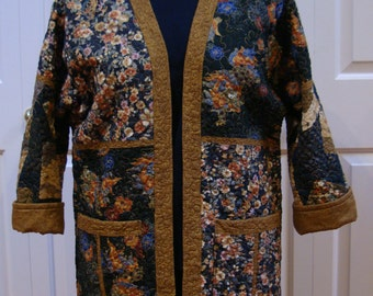 Golden Dragon -- Quilted Jacket (L)