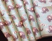Cloth Napkins, Reusable Napkins, Eco Friendly Napkins, Pack Of 6 Napkins, Elephant Napkins, Cloth Wipes