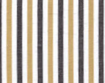 Fabric Finders Black and Gold Stripe Cotton Fabric