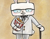Hipster Bunny Print: The Colonel