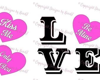 Valentines Day conversation Heart  SVG love svg Valentines Day svg  digital cut file  svg Instant download