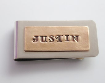 Personalized Money Clip Bronze Custom Men's Item Personalized Gift Father's Day Birthday
