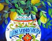 Lemon Scent Still Life Original Painting 16 x 20 Art by Elaine Cory