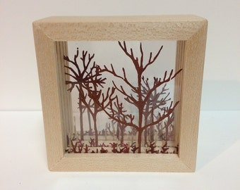 Forest Shadow Box (brown micro)