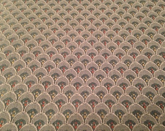 Vintage Blue Tapestry Fabric - 3 yards Plus