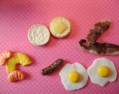 Bacon Egg and Sausage Breakfast for 18 inch Dolls and their American Girls- Play-Collectable-Display-Photo Props