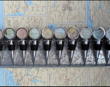 Custom Map Wine Stopper - What is your special place in the heart?