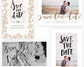 Brushed Save the Date 5x7 WHCC Cards   (INSTANT DOWNLOAD)