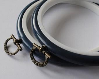 2 Mini Flexi Hoops Dark Blue  - 4 inch
