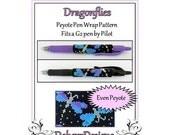 Bead Pattern Peyote(Pen Wrap/Cover)-Dragonflies