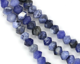 Sodalite Beads - 5.5mm Faceted Rondelle