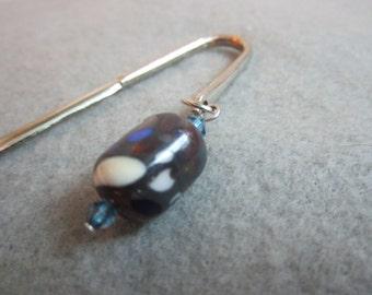 Garden Pebbles, Lampwork Glass Bead Bookmark