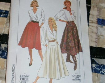 1989 Simplicity Pattern 9317 for Misses Skirt in Three Lengths Size K, 8, 10, 12 Uncut
