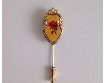 Vintage rose hat pin