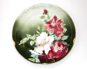 K&G Luneville Porcelain Plate Keller Guerin France - Collectible Antique China Cabinet Dish - Vintage Shabby Chic French Country Home Decor
